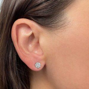1.8 Carat Total Weight Diamond Stud Earrings